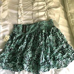 Aeropostale Aquamarine Floral Twirl Mini Skirt